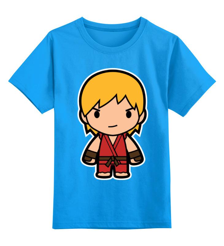 Купить 0000000714301, Детская футболка классическая Printio Ken, р. 104,