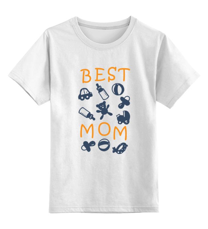 Купить 0000000713089, Детская футболка классическая Printio Best mom, р. 104,