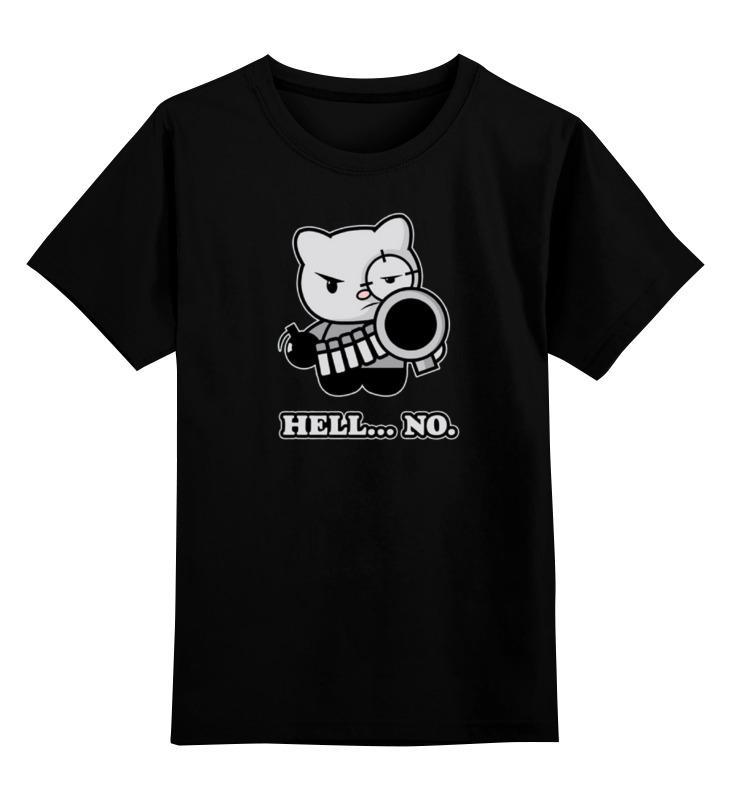 Купить 0000000726034, Детская футболка Printio Bad cat цв.черный р.128,