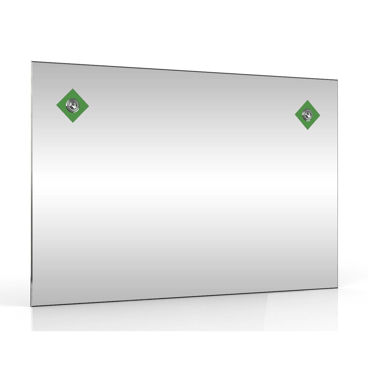 Зеркало ЕвроЗеркало 401С 2Г зелёный, 60х40 см.,