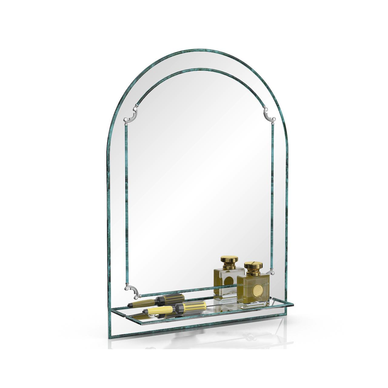 Зеркало ЕвроЗеркало 331Д малахит, 60х80 см.,
