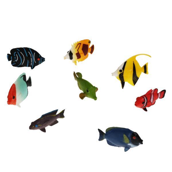 Купить Набор из 8-и рифовых рыбок Играем Вместе 5см в ассорт. в пакете,