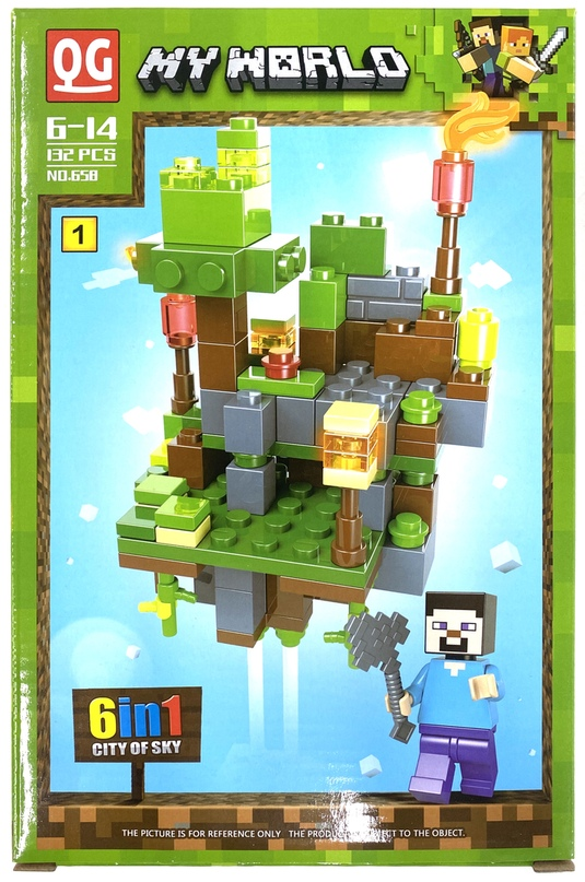 Купить Конструктор QG Minecraft Воздушный биом, 132 детали, Конструкторы пластмассовые