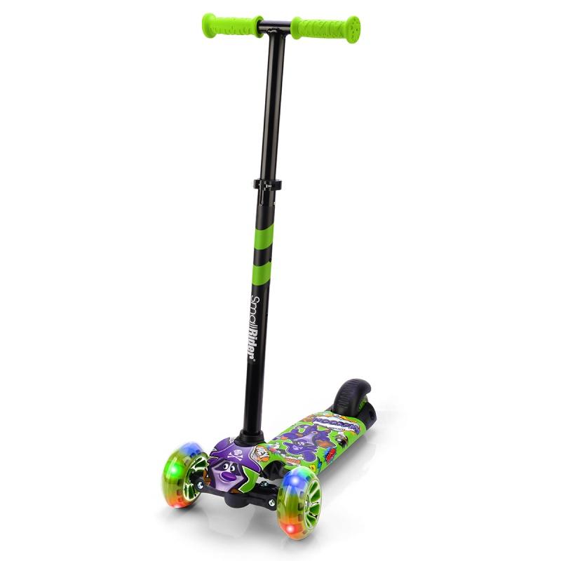 Самокат Small Rider Turbo 2 Cartoons енот фиолетово-зеленый.