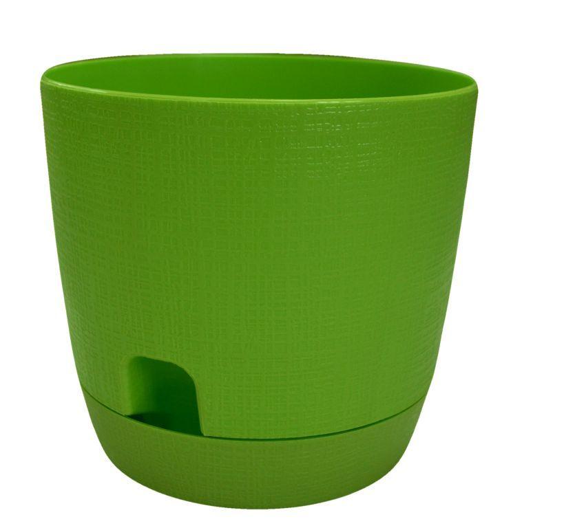 Горшок для цветов с поддоном Twist d=19 3.3 л Темно-зеленый по цене 269