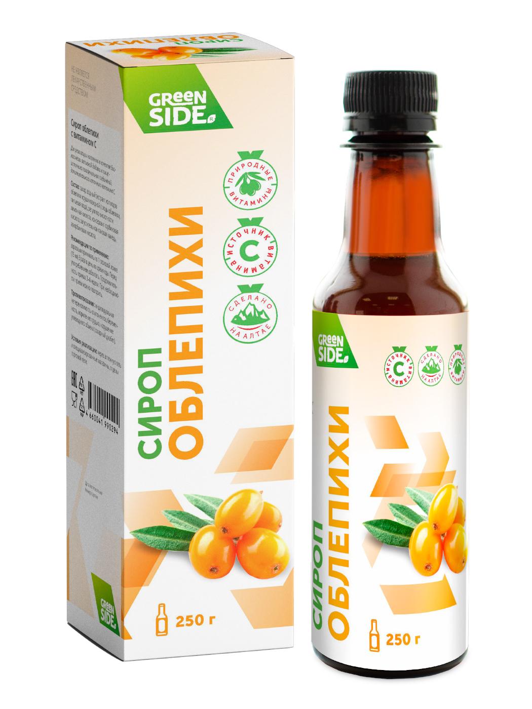 Сироп Облепихи Green Side с витамином