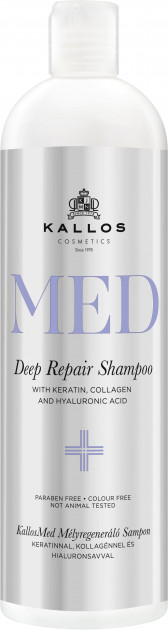Купить Шампунь для волос KALLOS MED DEEP REPAIR SHAMPOO Увлажняющий 500 мл, Kallos Cosmetics
