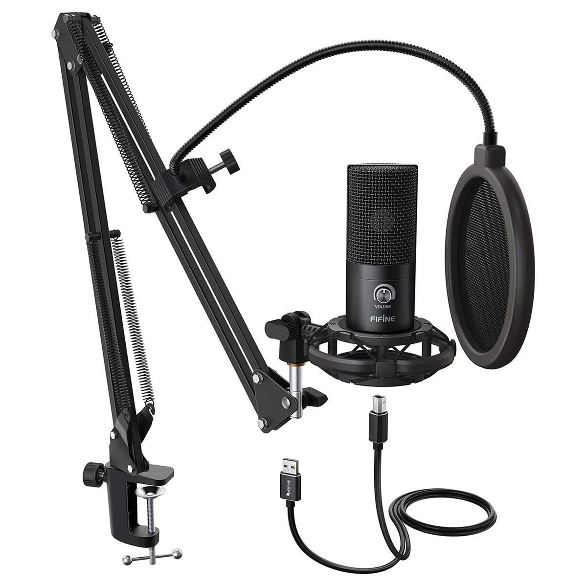Микрофон Fifine T669 + стойка Black