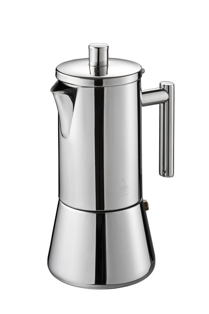 Гейзерная кофеварка GEFU Нандо на 4 чашки на 4 чашки л, индукционная фото