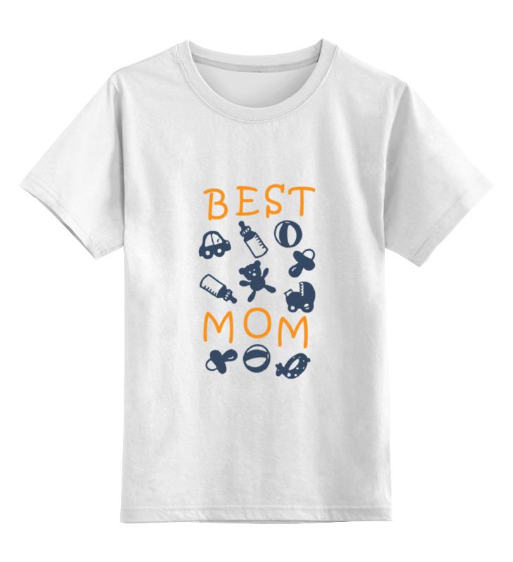 Купить 0000000713061, Детская футболка классическая Printio Best mom, р. 128,