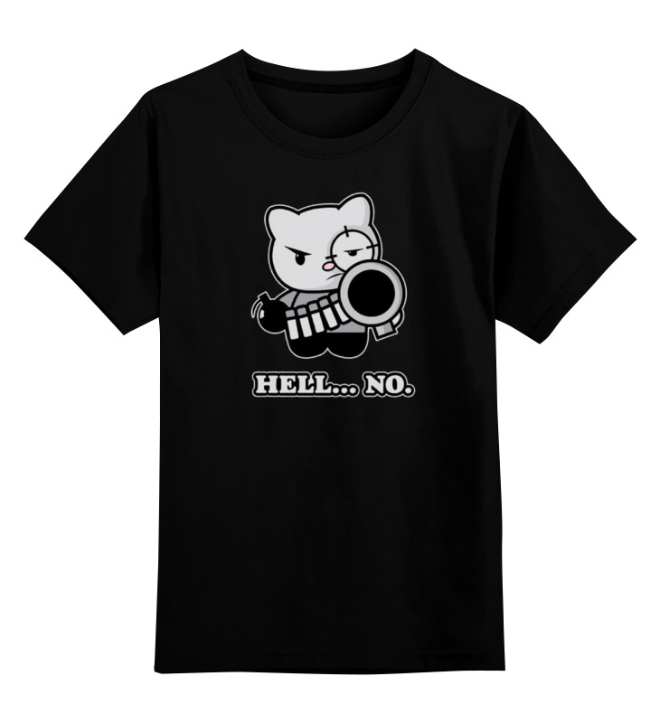 Купить 0000000726034, Детская футболка Printio Bad cat цв.черный р.140,