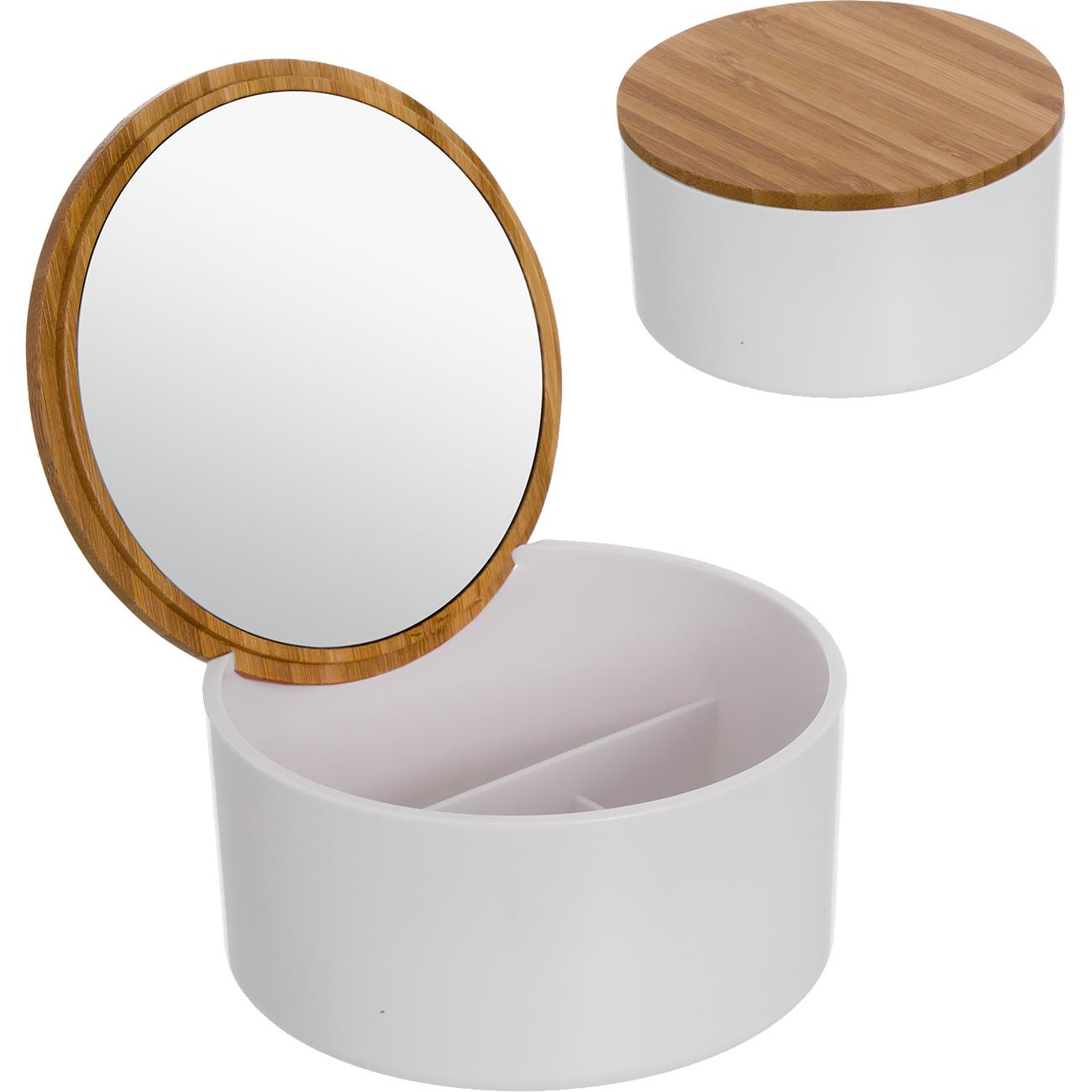 Шкатулка для украшений Bamboo с зеркалом Dcasa.