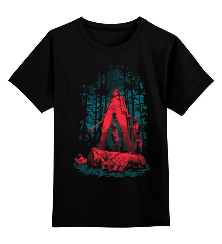Купить 0000000724053, Детская футболка Printio Охотник на зомби цв.черный р.140,