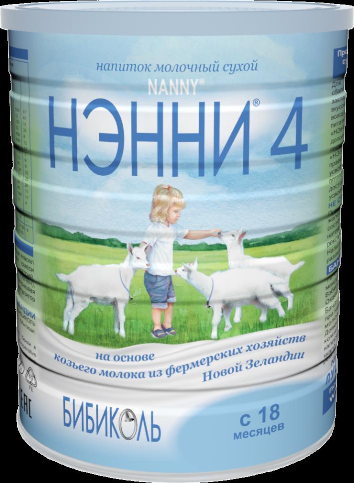 Смесь на основе козьего молока Бибиколь Нэнни 4  от 18 мес. 400 г