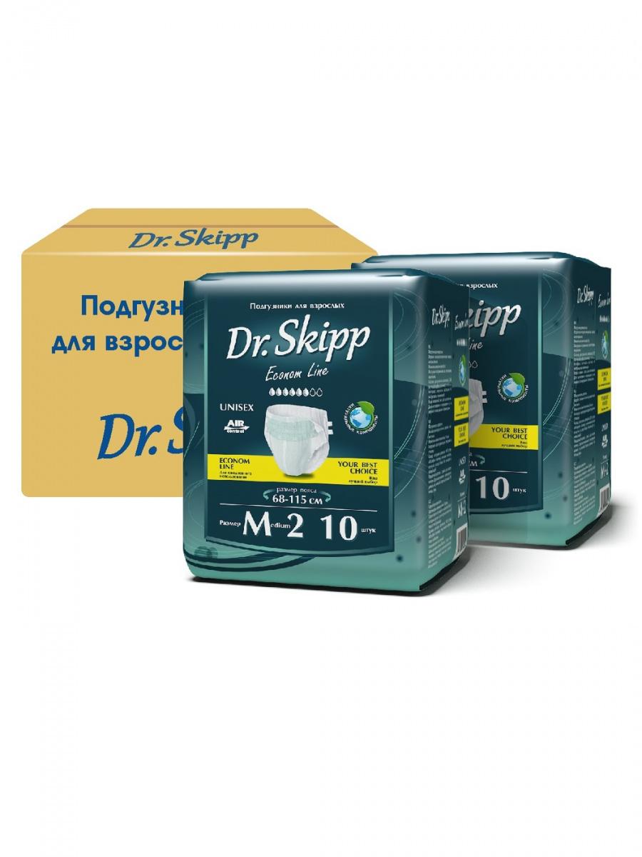 Подгузники для взрослых Dr.Skipp размер M-2 (68-115 см), 20 шт.