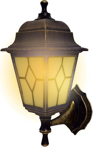 Светильник садово-парковый duwi Riga бра вверх/вниз 380мм 60W черное золото пластик