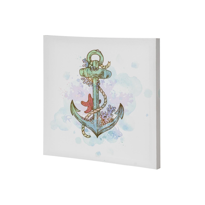 Постер на раме Якорь, морской стиль, 30х30