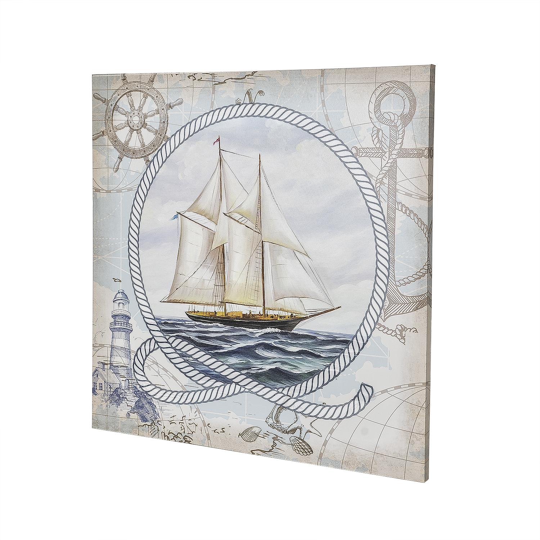 Постер на раме Парусник, морской стиль, 60х60