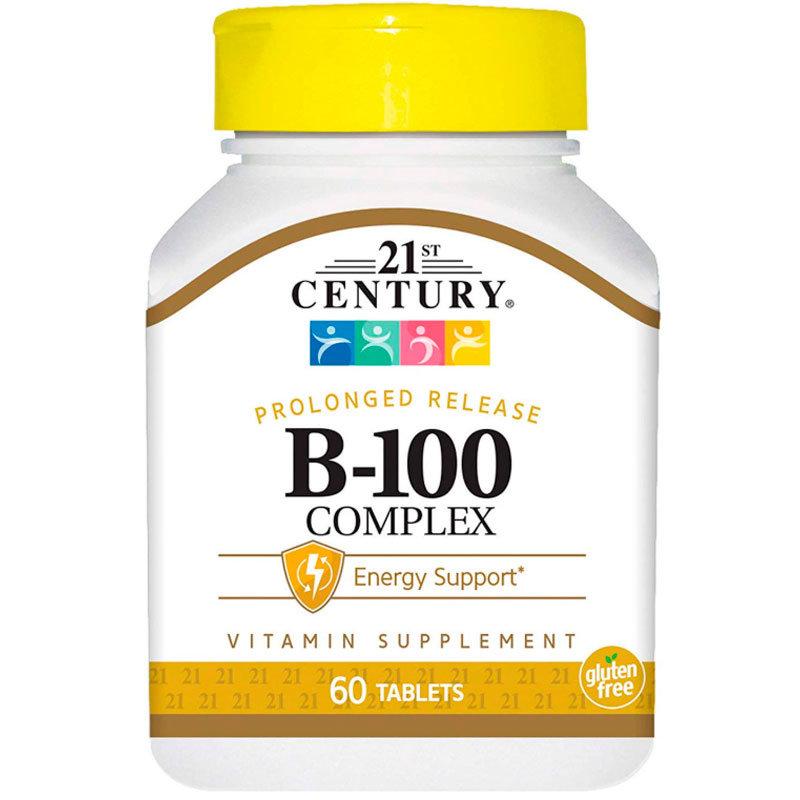 Витамин В 21ST CENTURY B-100 Complex таблетки 60 шт.