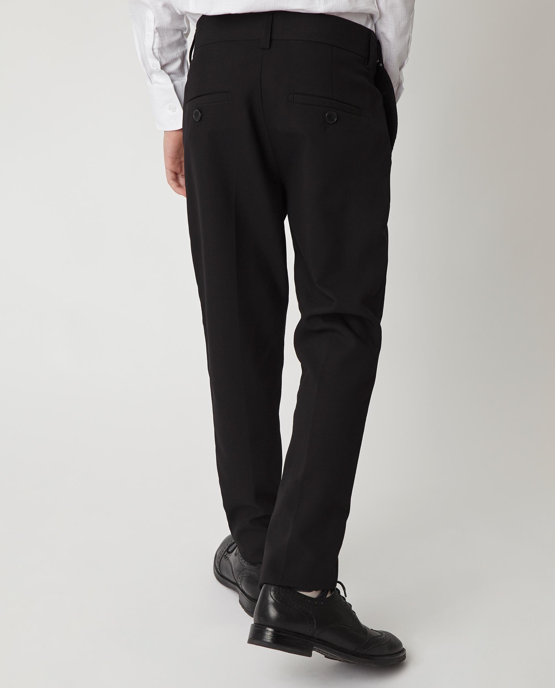 Купить Черные узкие брюки Gulliver 220GSBC6304, размер 170, Брюки для мальчиков