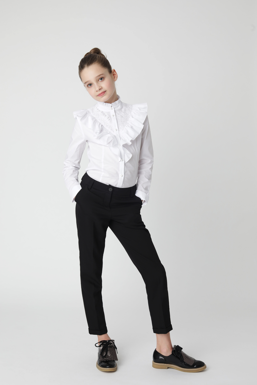 Купить Черные брюки Gulliver 220GSGC6307, размер 170, Брюки для девочек
