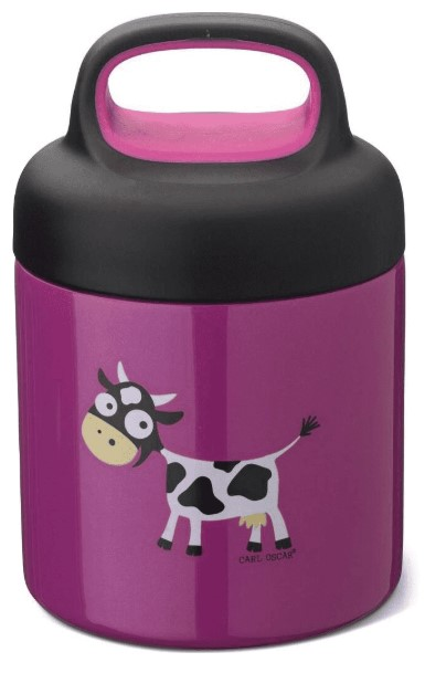 Термос для еды LunchJar™ Cow 0.3л фиолетовый, Carl Oscar