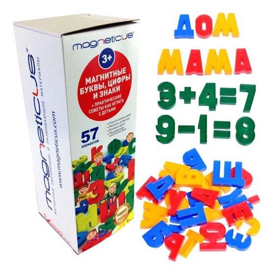 Купить Магнитные буквы и цифры, Набор для обучения магнитные буквы и цифры, MAGNETICUS,