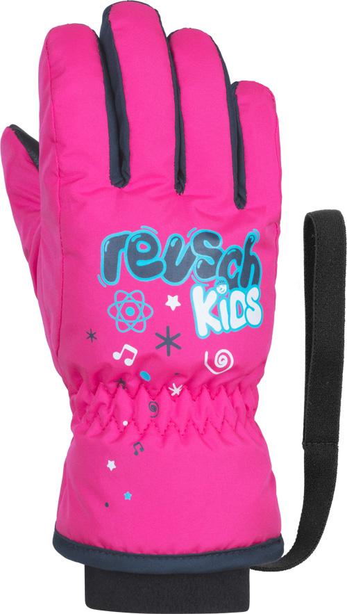 Перчатки горные Reusch 2020-21 Kids Pink Glo, р. 15