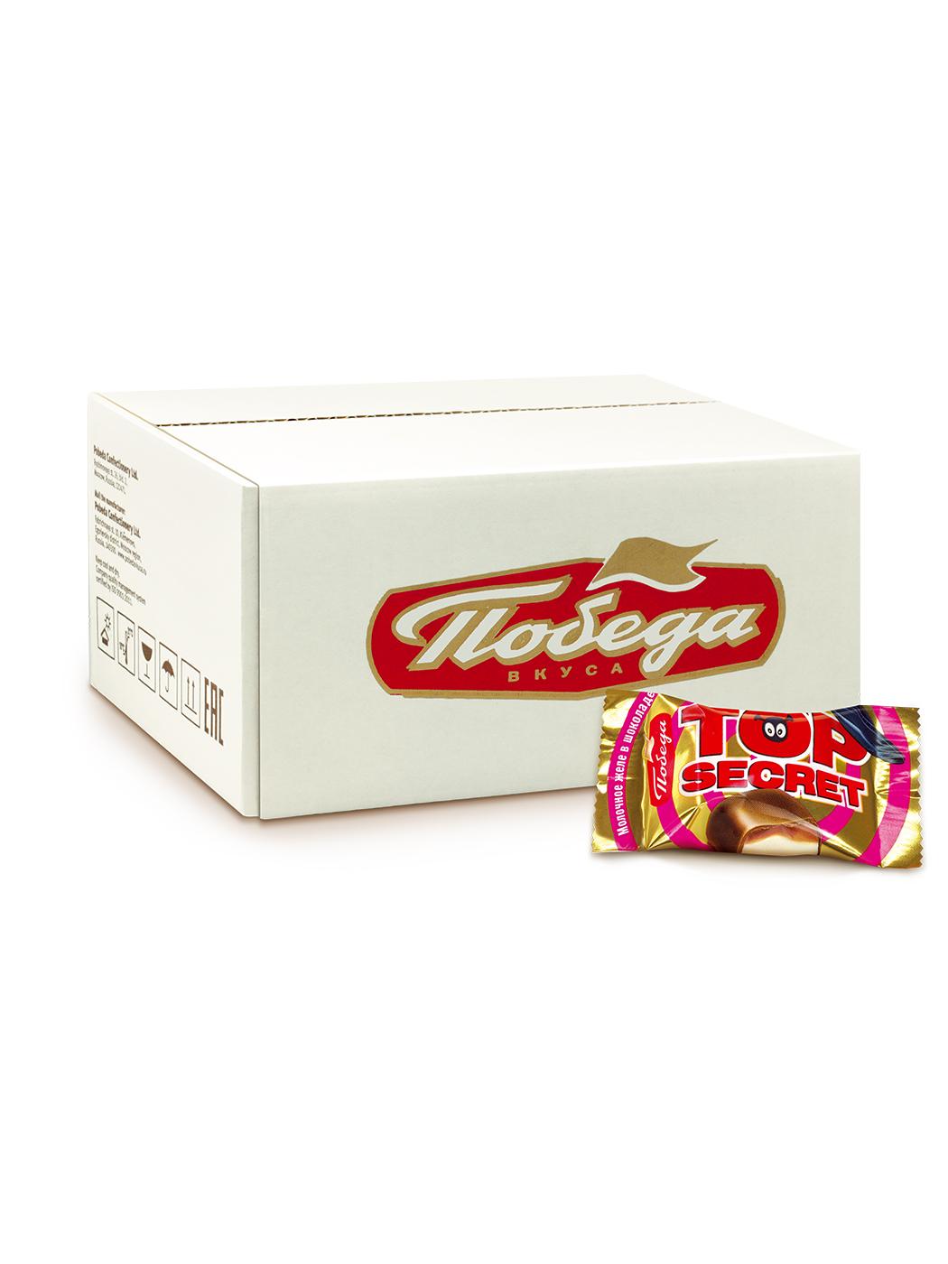 Конфеты Победа вкуса Top Secret желейные со вкусом сгущенки в молочном шоколаде фото