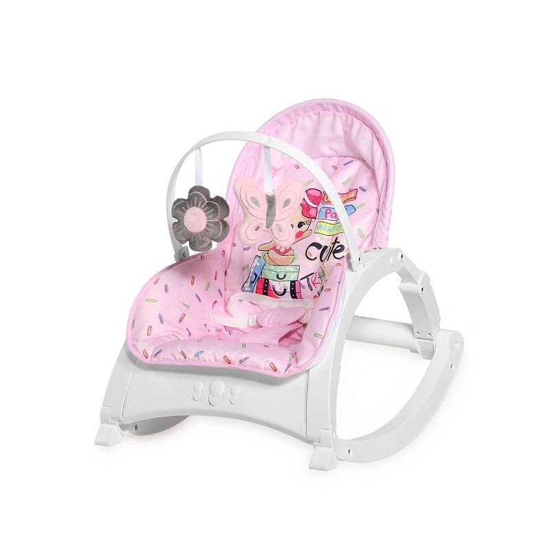 Стульчик качалка Lorelli Enjoy Розовый/Pink Travelling 2046
