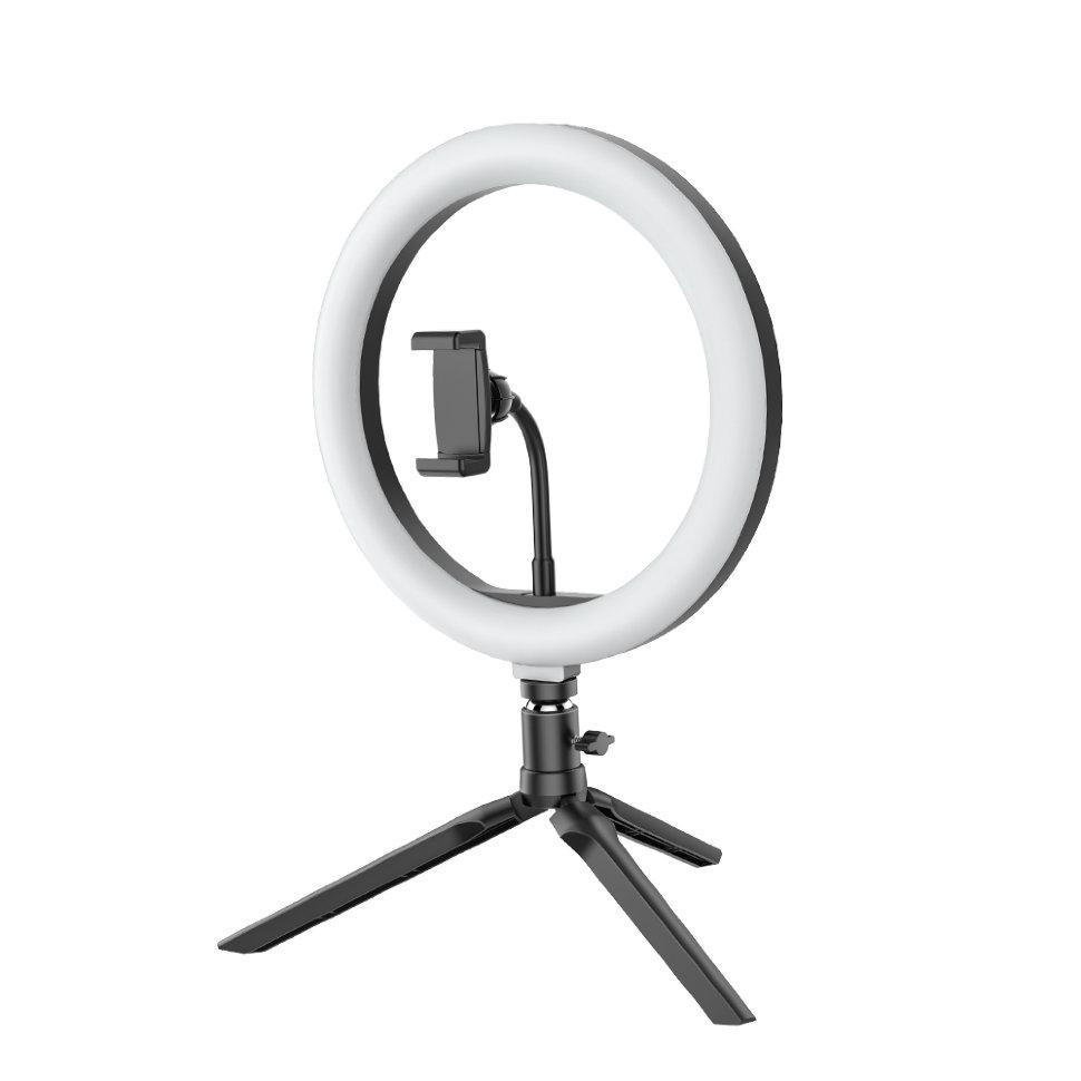 Кольцевая лампа NoBrand, 26 см, White/Black
