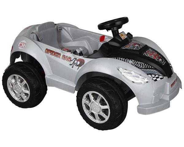 Купить Электромобиль Pilsan Spider 6V Серый корпус с черным капотом, на д/у,