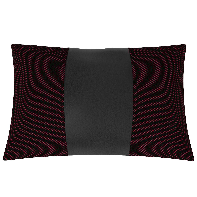 Подушка автомобильная AVTOLIDER1 Экокожа жаккард чёрный чёрный