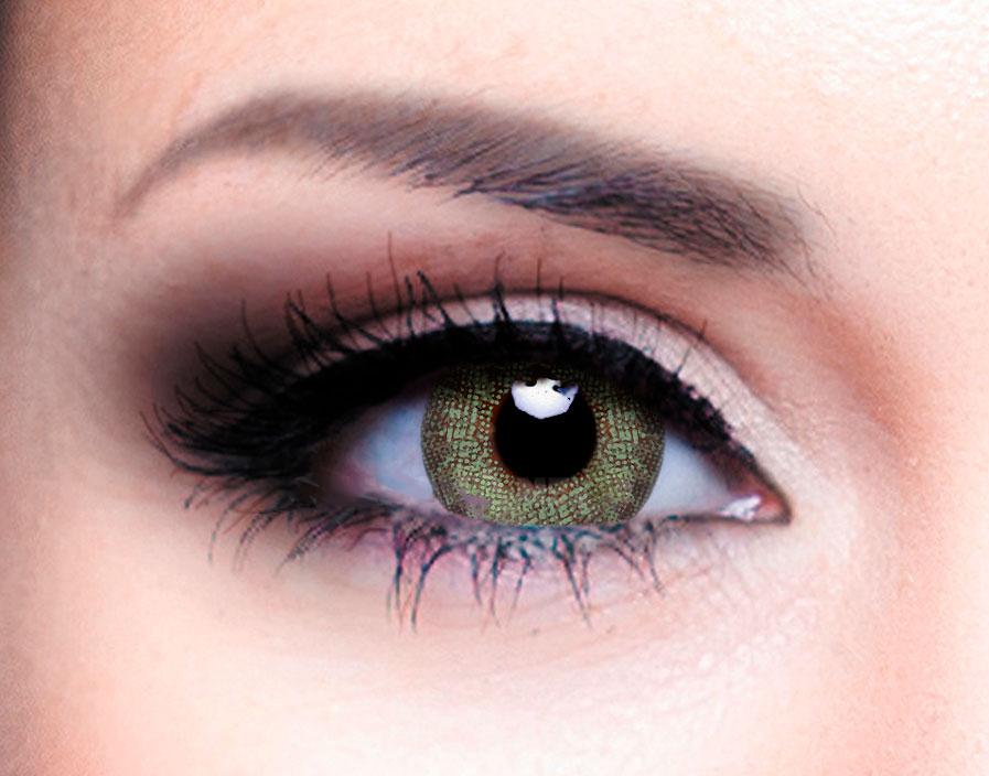 Купить Цветные контактные линзы Офтальмикс Colors 2 линзы (New) R 8, 6 -4, 50 Зеленые