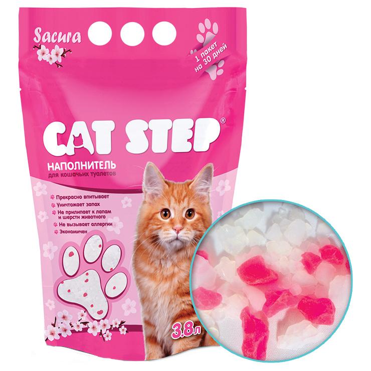Впитывающий наполнитель для кошек Cat Step Сакура