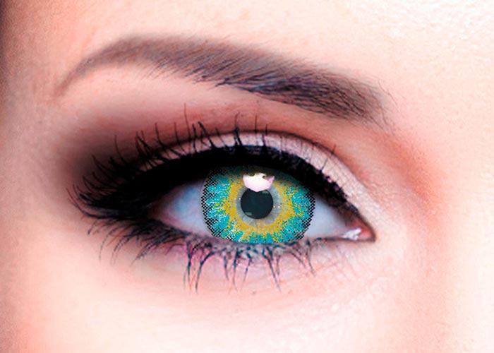 Купить Ophthalmix Butterfly, Цветные контактные линзы Офтальмикс Butterfly 3 Т 2 шт. PWR -1, 50, R 8.6, Aqua Blue