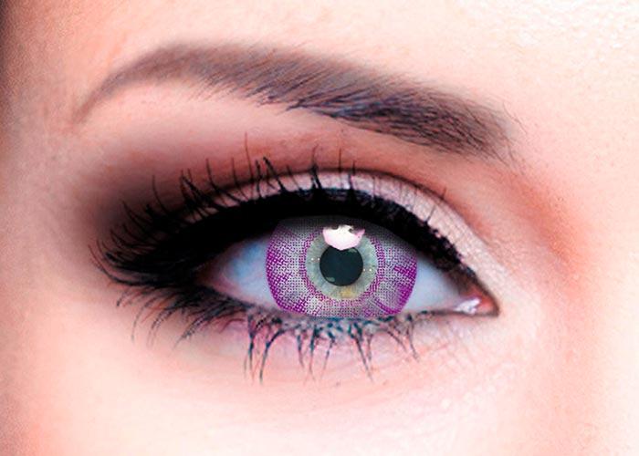 Купить Ophthalmix Butterfly, Цветные контактные линзы Офтальмикс Butterfly 2 шт. PWR -5, 00, R 8.6, Violet
