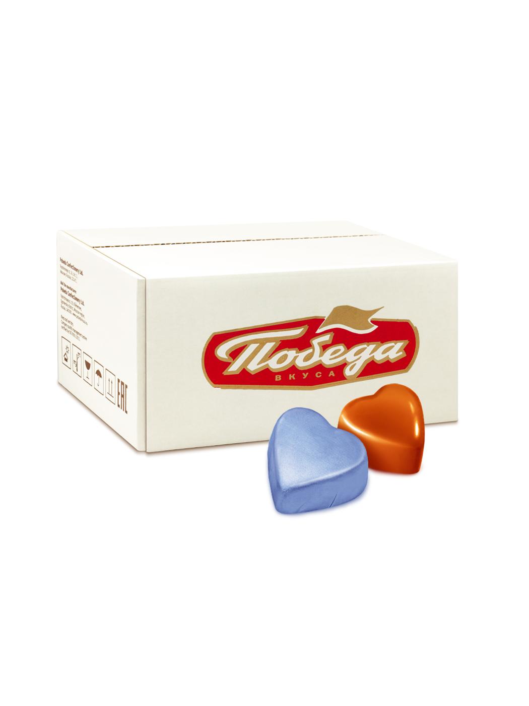 Конфеты шоколадные Победа Вкуса с ореховым кремом сердечки фото