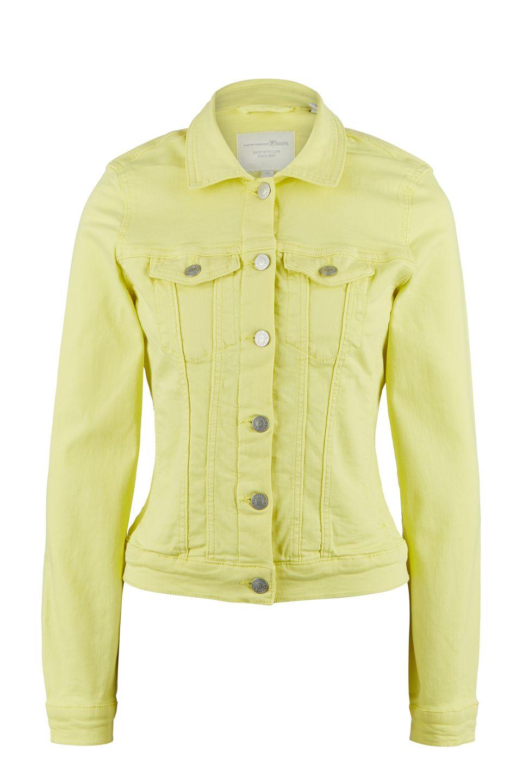 Джинсовая куртка женская TOM TAILOR 1016635-16946 желтая S