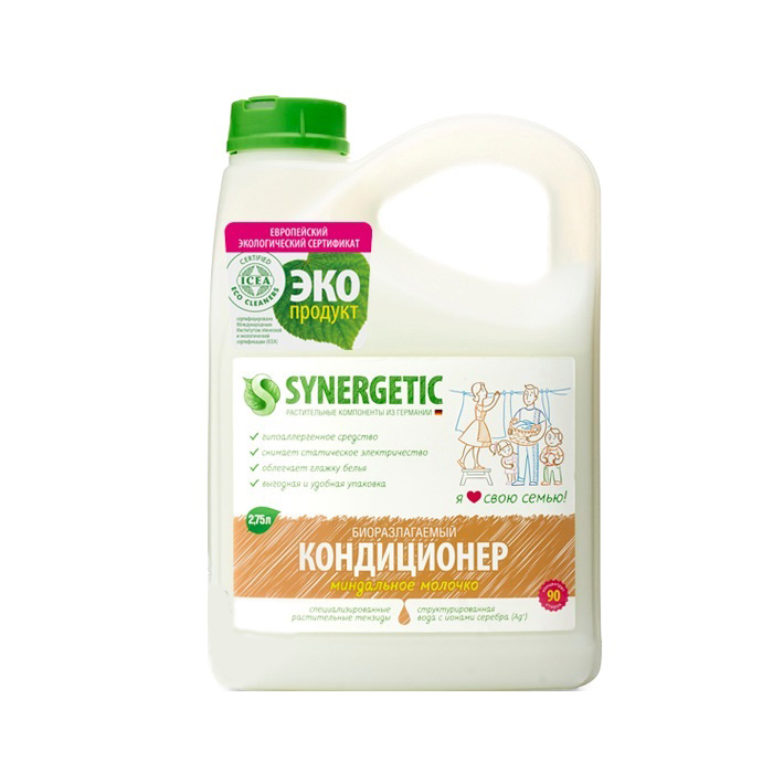 Кондиционер для белья Synergetic миндальное молочко 2750
