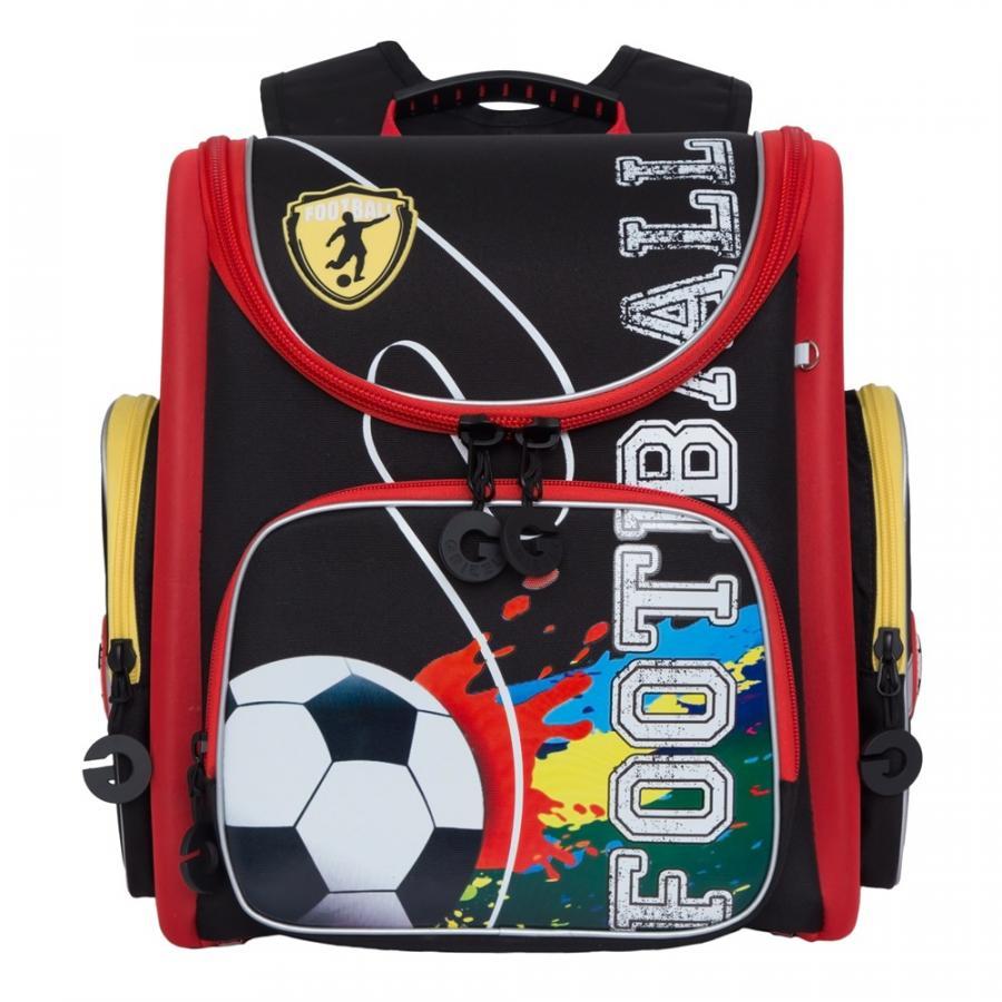 Купить Рюкзак детский Grizzly RAr-081-9 черный - красный, Школьные рюкзаки для мальчиков