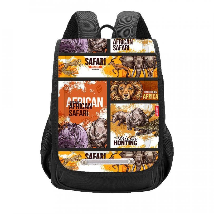 Купить Рюкзак детский Grizzly RAk-091-2 черный, Школьные рюкзаки для мальчиков