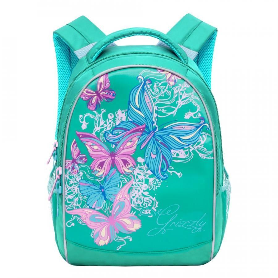 Рюкзак детский Grizzly RG-868-4 школьный зеленый – купить по цене 1,992.00 руб. в goods.ru   imall.com