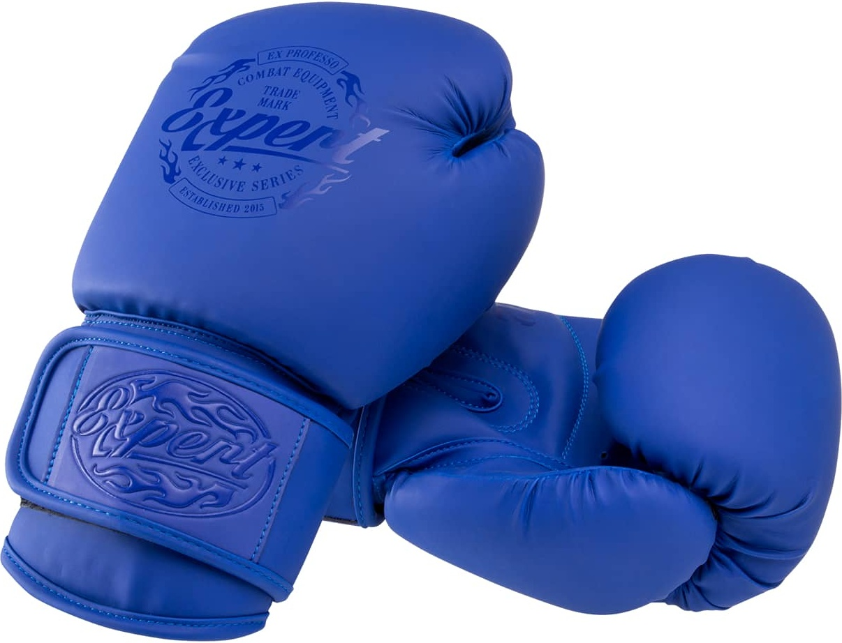 Fight Expert Перчатки боксерские BGS V010, синий,