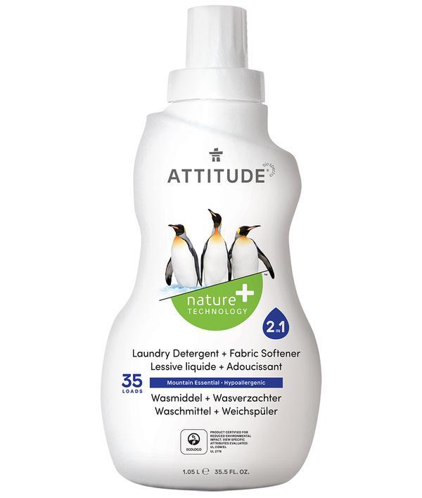 Жидкость для стирки Attitude 2в1 маунтин эссеншиалз 1040 мл.
