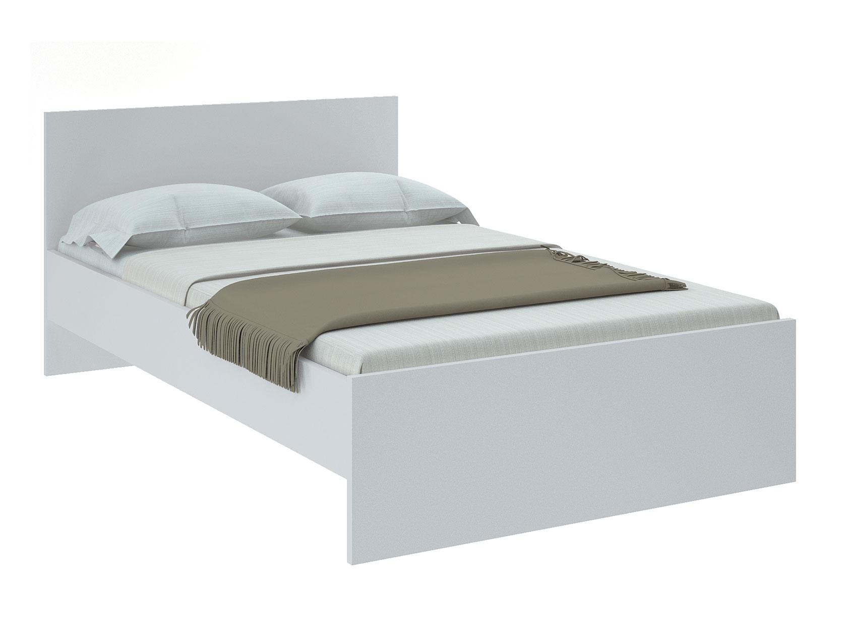 Односпальная кровать НИКОЛЬ Белый, 1200х2000 мм,