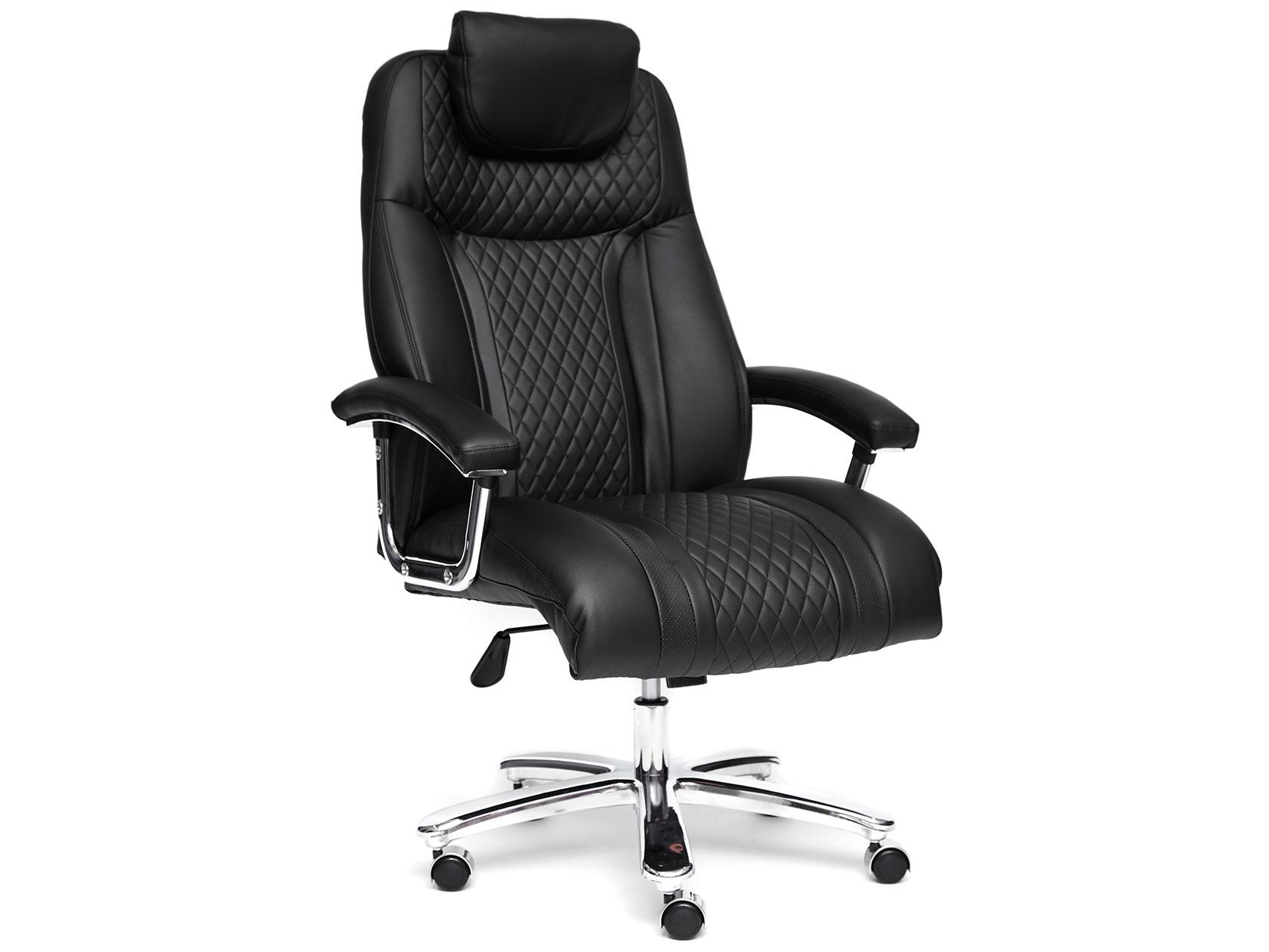 Кресло руководителя TRUST Иск. кожа, черный/черный стеганный/черный