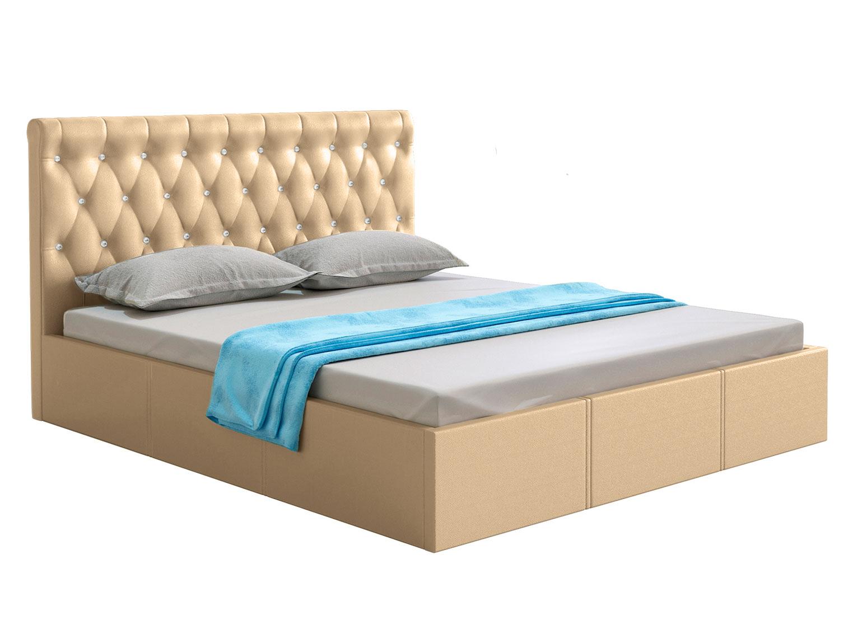 Двуспальная кровать с подъемным механизмом Женева Бежевый,