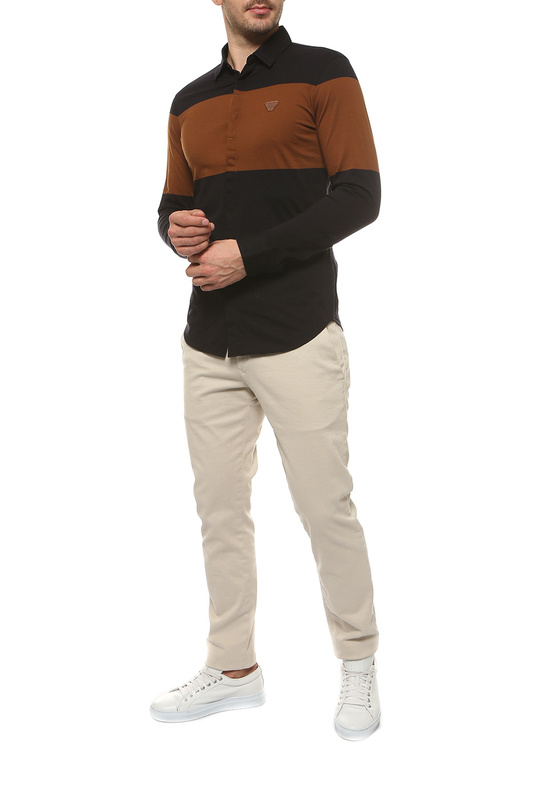 Рубашка мужская Armani Jeans 6X6C87 6JQFZ черная S