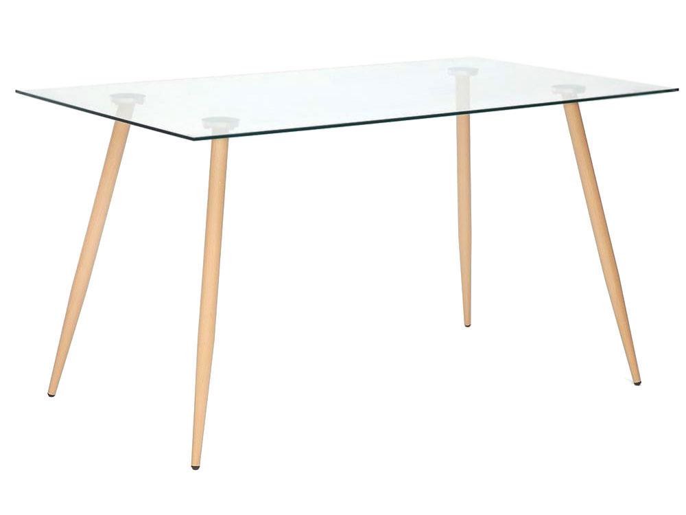 Кухонный стол 10298 Стол SOPHIA Стекло/Бежевый, металл